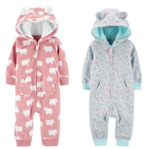 Set of 2 Hooded Jumpsuits